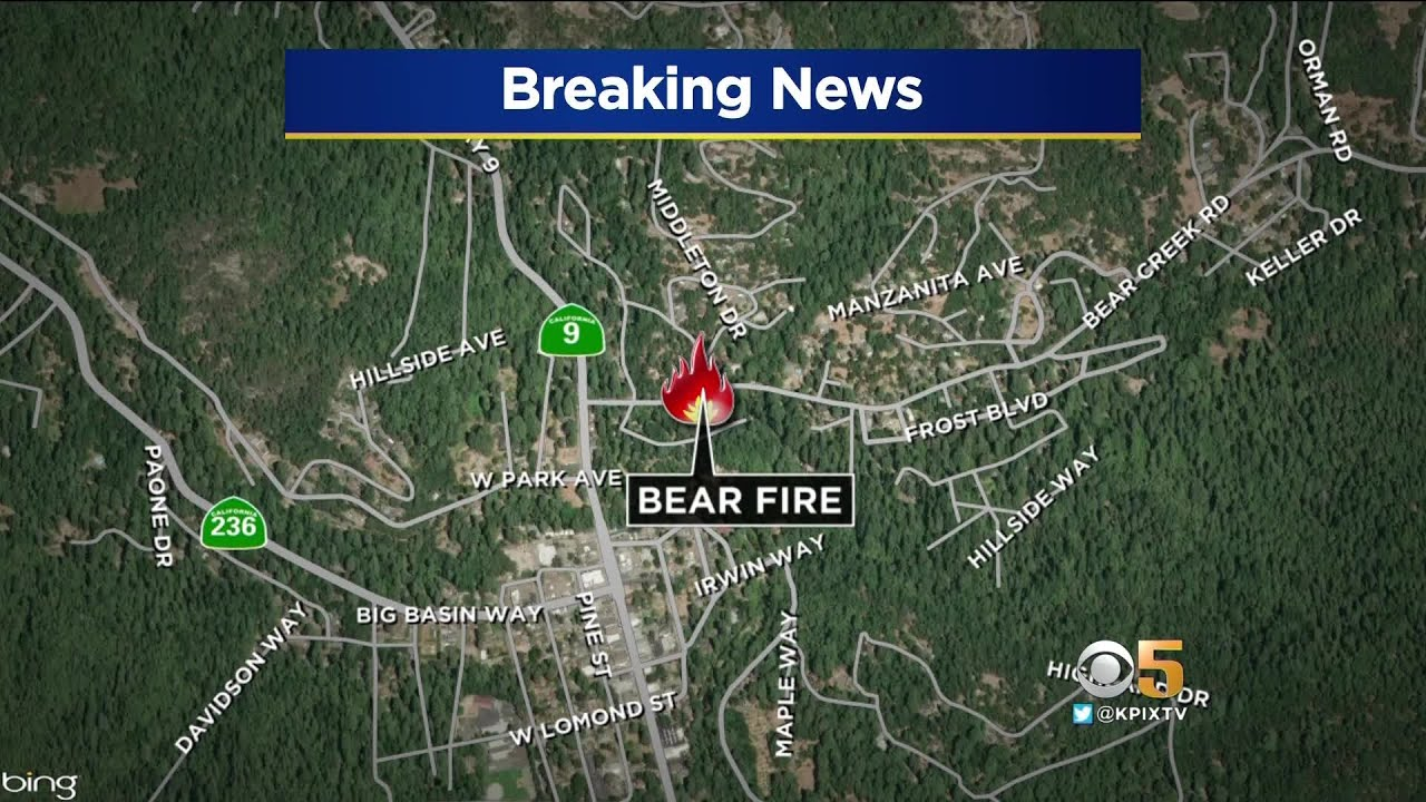 Santa Cruz Mountain Fire Map.Fire In Santa Cruz Mountains Prompts Evacuations Youtube