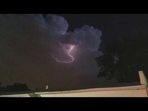 Crazy lightning in Paterson New Jersey 5/31/2017