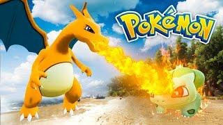 CHARIZARD BREATHES FIRE! (3D POKEMON ARK)