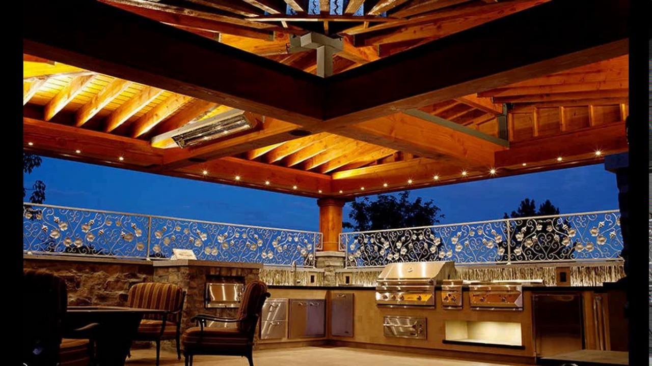 Outdoor kitchen lighting design - YouTube