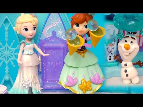 Thumbnail: Frozen Elsa & Anna Little Kingdom Toys - Elsa Messes Up Olaf's Snow Cone Store - Stories With Dolls