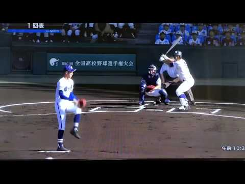 【第101回全国高校野球】大会2日目第1試合 履正社-霞ヶ浦 ハイライト