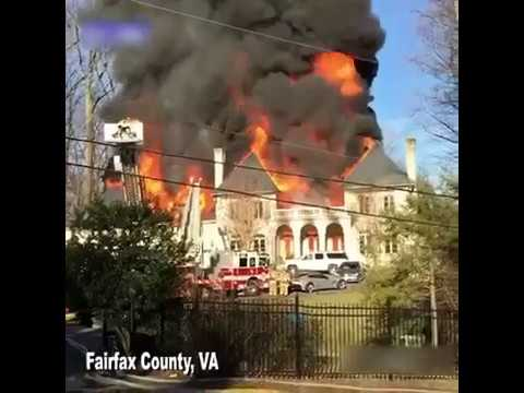 LARGE HOUSE FIRE IN FAIRFAX COUNTY,VA