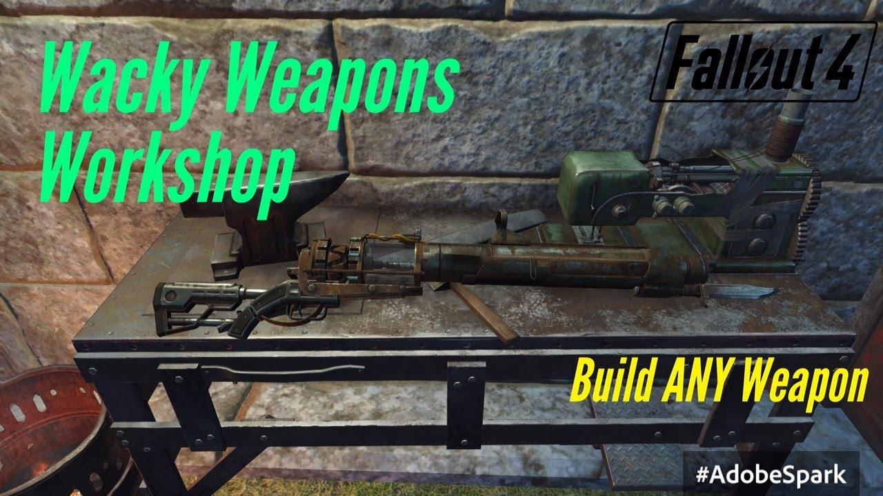Fallout 4 PS4 Mods: Wacky Weapons Workshop (Gun Maker)