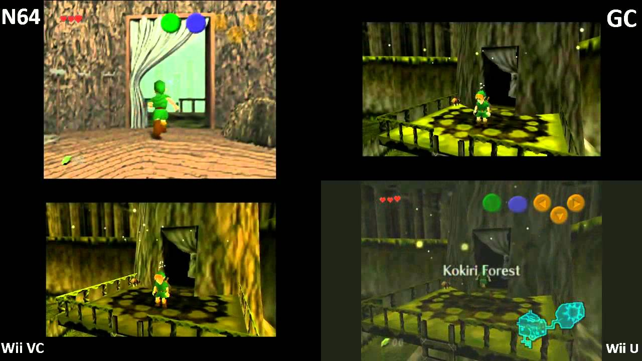 Zelda Ocarina of Time Load Times difference (N64 - GC - Wii VC - Wii U VC)