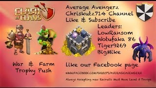 Clash of Clans-Average Avengerz Chriskutz714 War Attack Replays