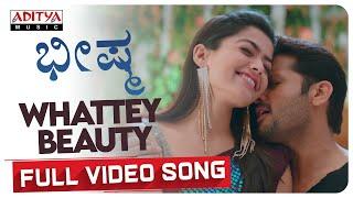Whattey Beauty | Bheeshma Kannada Video Song | Nithiin | Rashmika Mandanna | Venky Kudumula Thumb