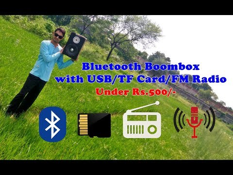 How to make a Bluetooth Boombox with USB, TF Card, FM Radio Player (under 8$)