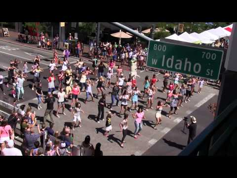 National Dance Day 2014 Flash Mob Boise, ID - SHiNE Dance Fitness