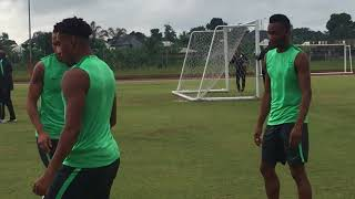 ROAD TO RUSSIA 2018: Close Contact with Super Eagles in training at the Nest of Champions