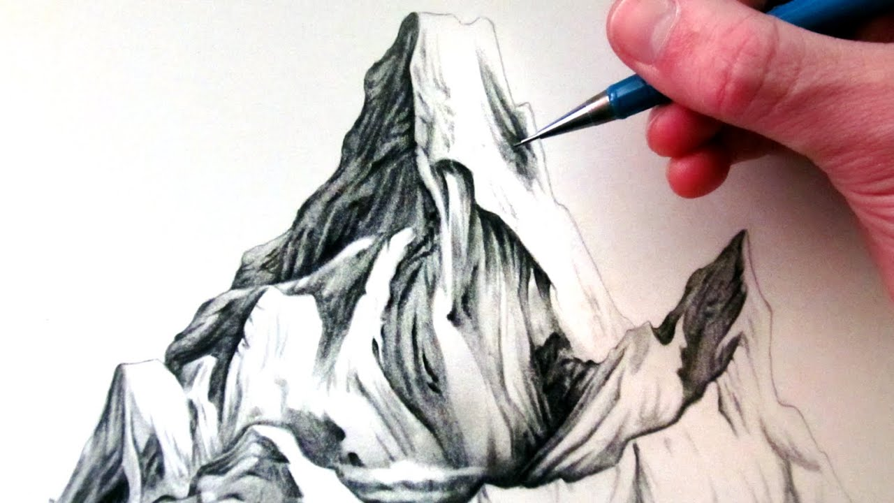 How To Draw Mountains Youtube