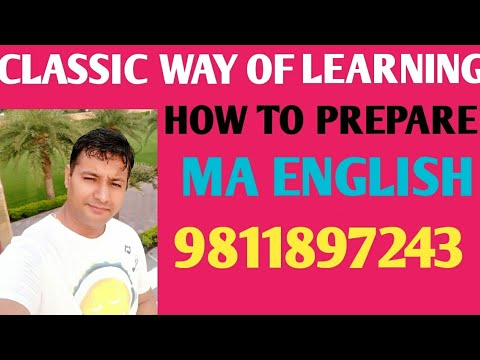 How To Start Preparation For MA ENGLISH