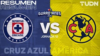 Resumen | Cruz Azul vs América | Guard1anes 2020 Liga Mx - J12 | TUDN