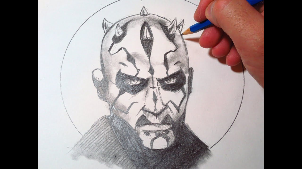 How To Draw Darth Maul - YouTube
