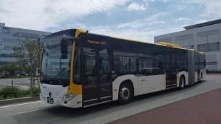 [BENZ CITARO-G ] 西鉄福岡都心循環BRT, 連節バス, 博多港国際ターミナル到着
