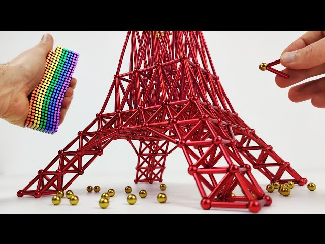 The Tokyo Tower made of magnets | Magnetic Games