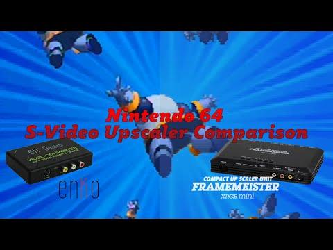 Nintendo 64 S-Video Upscaler Comparison (enKo and XRGB-Mini)