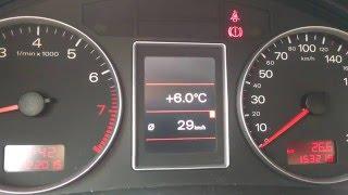 Audi a4 B7 1.8t quattro - расход по городу