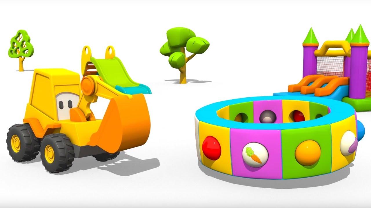Cartoni animati per bambini l escavatore max e la fantastica