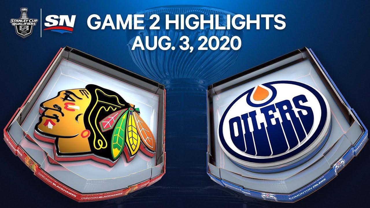 Nhl Highlights Blackhawks Vs Oilers Game 2 Aug 3 2020 Youtube