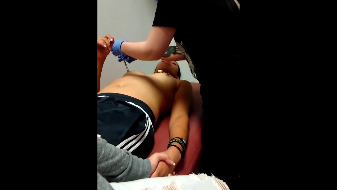 Girls getting nipples pierced, small girls tit xxx