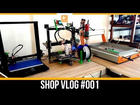 Shop Vlog Setting Up CNC Machine & 3D Printers // For the DIY X-Class