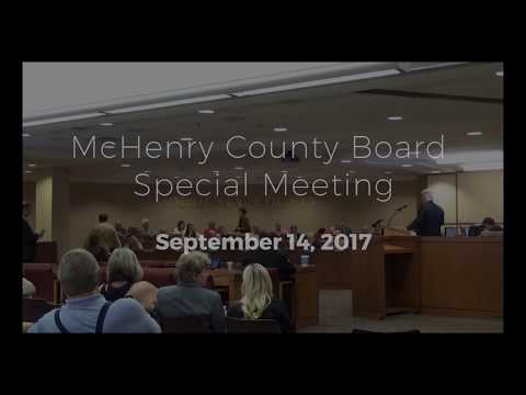 McHenry County Board Special Meeting - 9/14/17