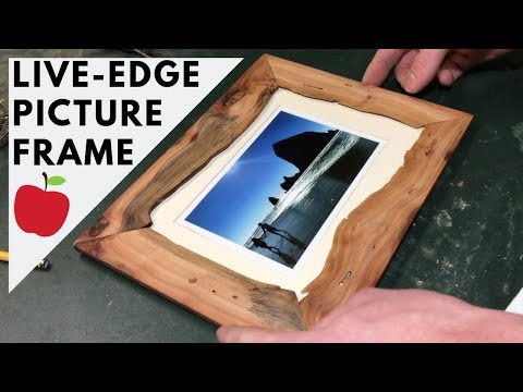 How to make a live edge picture frame