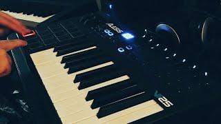 Alesis vi25 - yamaha p45 - electronic piano and sax music