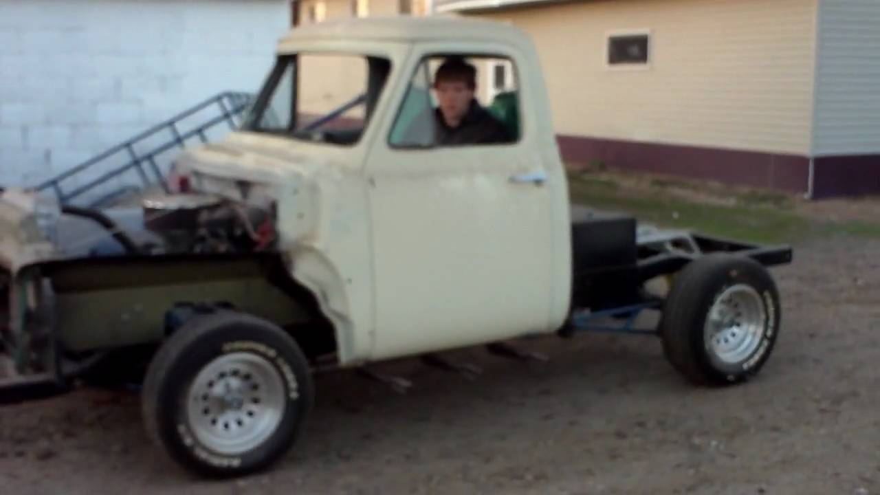 For Sale 1954 Ford F100 project truck (driving) - YouTube