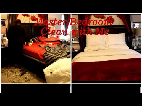 Clean with me. Master bedroom