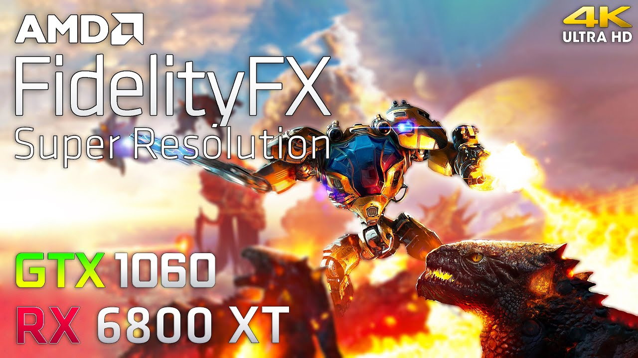FidelityFX - Graphics and Performance Test (RX 6800 XT & GTX 1060)