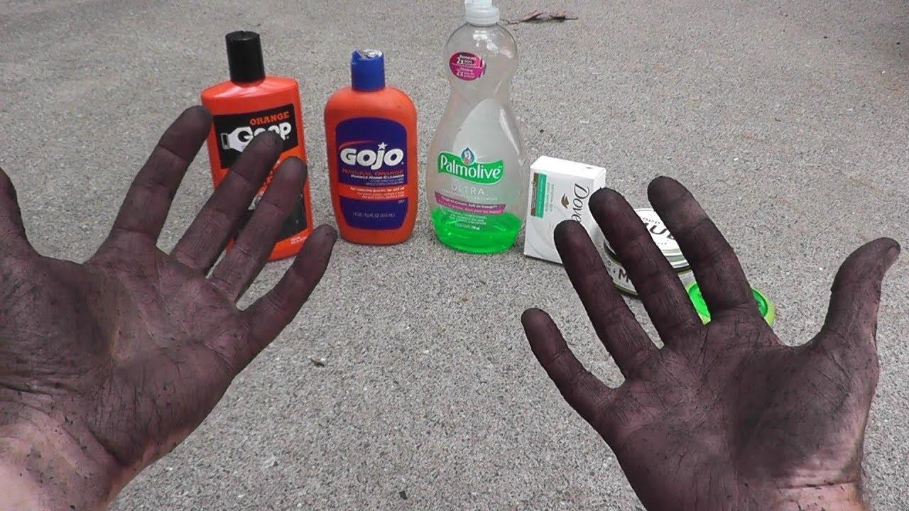 hand cleaner comparison goop vs gojo vs good clean mud vs hand
