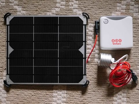 Simple Solar Kit for Tree House or Tiny Home? (Voltaic Panel)