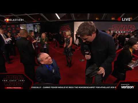 Warwick Davis interview - Star Wars The Last Jedi Red Carpet World Premiere