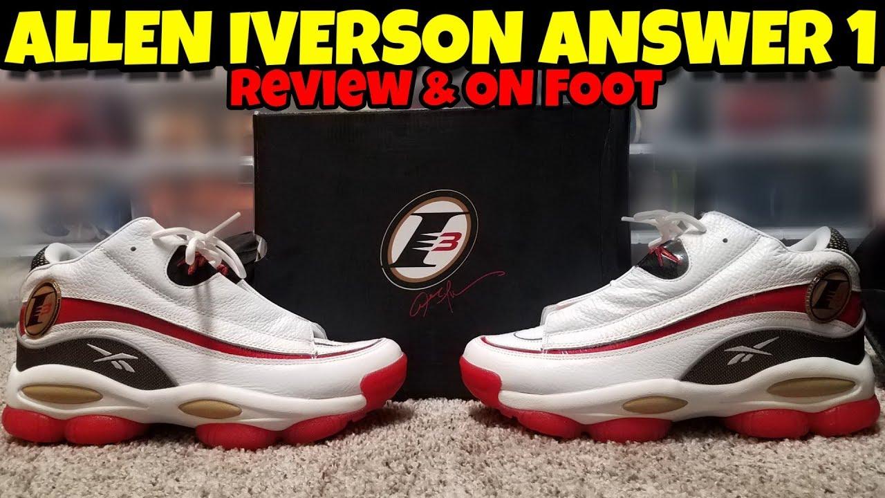2018 Reebok Answer 1 Allen Iverson Review & On Feet ...