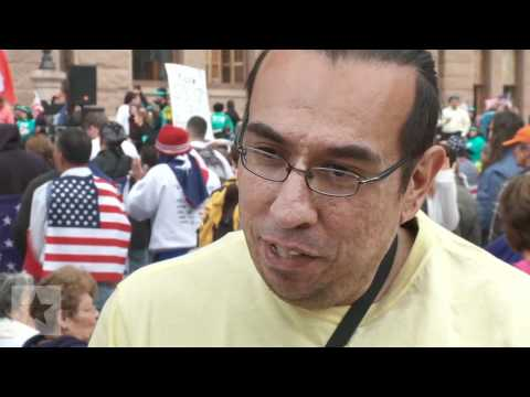 Texans Rally Against Immigration Bills