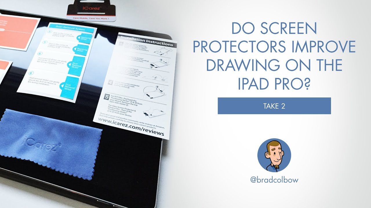 Do Screen Protectors Make Drawing on the iPad Pro Better? (Take 2 review)