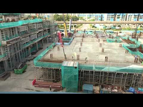 Singapore, construction site in Sengkang, cement casting | Sony Xperia Z5