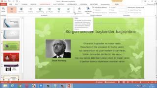 PowerPoint 2013 ile sunu hazırlama