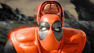 Mortal Kombat XL - All Fatalities & X-Rays on Deadpool Kano Costume Mod 4K Ultra HD Gameplay Mods