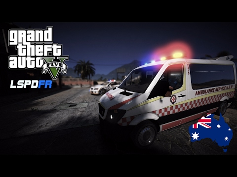 GTA 5 - Emergency 000 - Ambulance Patrol in Sandy Shores (Play GTA as a Paramedic mod) #OZGTA