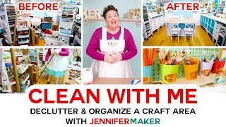 Clean with Me | Messy & Cluttered Craft Room | Organization Motivation