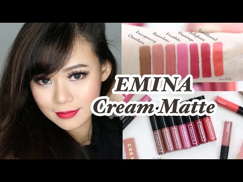 EMINA CREAM MATTE ALL SHADES REVIEW & SWATCH | GIVEAWAY