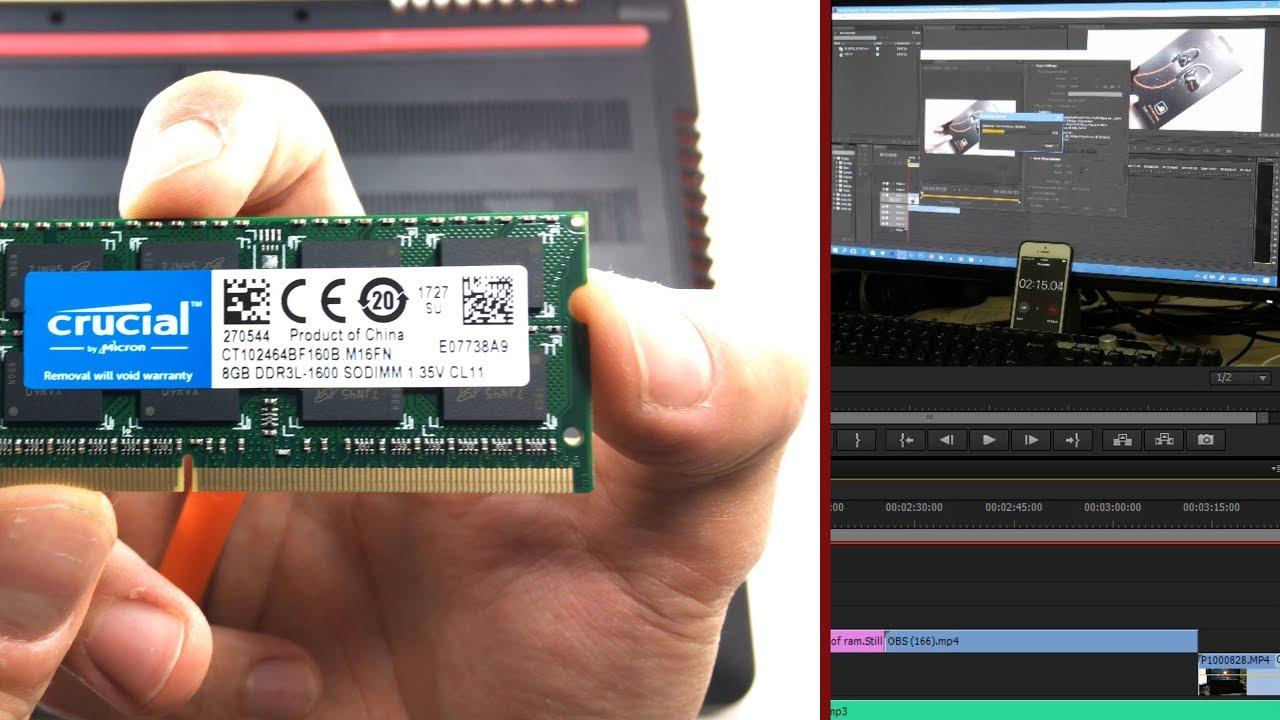 8GB VS 16GB - RAM TEST - Premiere Pro - YouTube