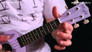 Видео урок: как играть песню Rocky Racoon - The Beatles на укулеле (гавайская гитара)