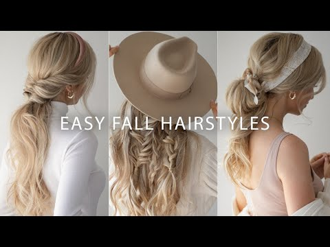 EASY FALL HAIRSTYLES 2019 🍂 FALL HAIR TRENDS - YouTube