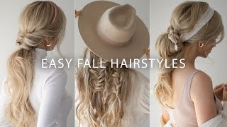 EASY HAIRSTYLES FOR FALL 2019 🍂 FALL HAIR TRENDS