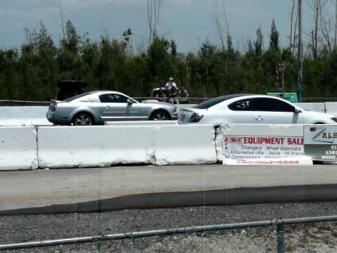 Scion tC vs Mustang County line raceway