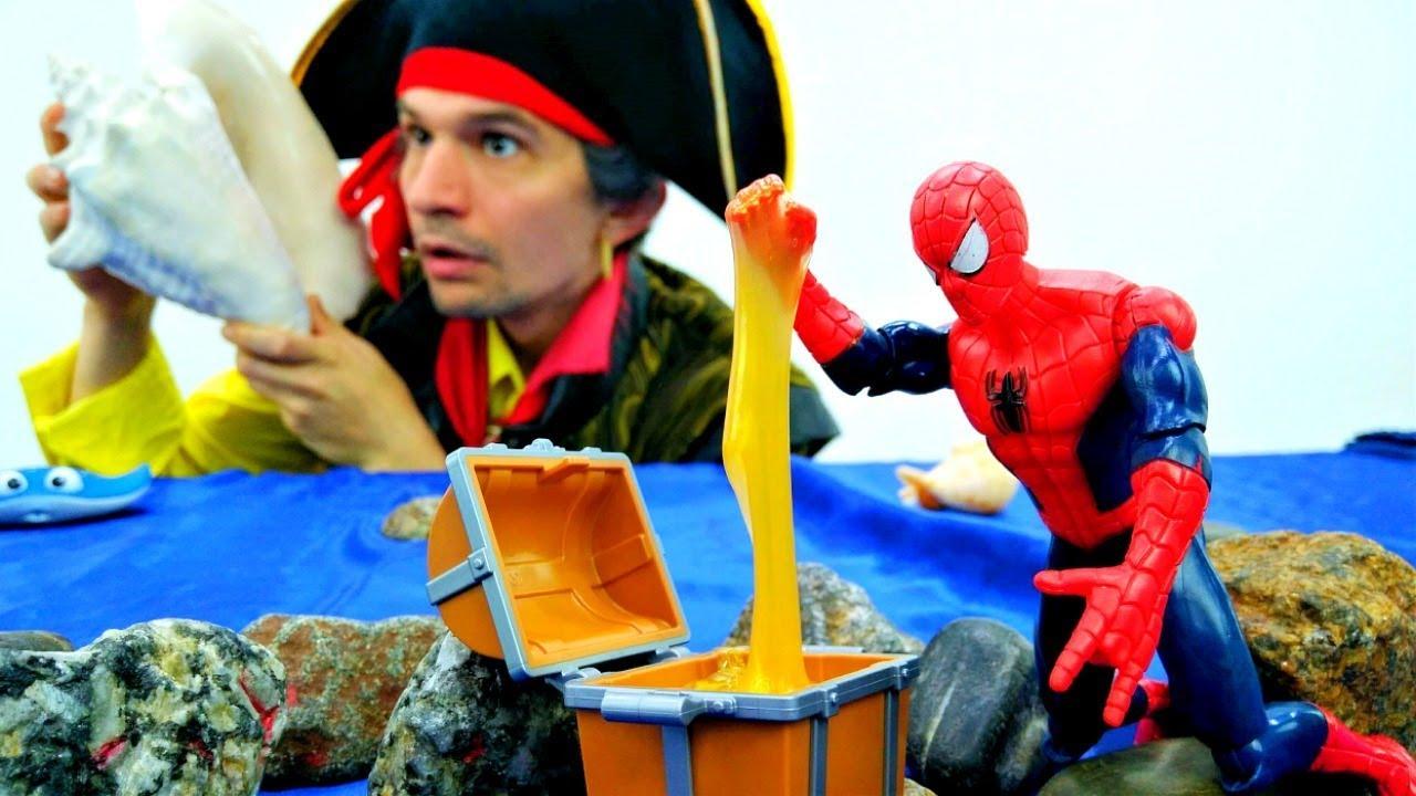 Супергерои и Пираты - Человек Паук и сокровища пиратов ...